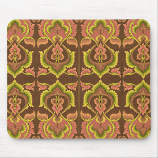 Exotic Vintage Autumn Colors Brown Green Yellow Mouse Pad