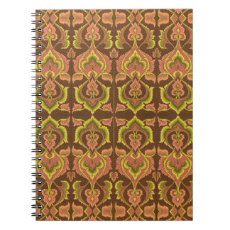Exotic Vintage Autumn Colors Brown Green Yellow Notebooks