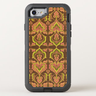 Exotic Vintage Autumn Colours Brown Green Yellow OtterBox Defender iPhone 7 Case