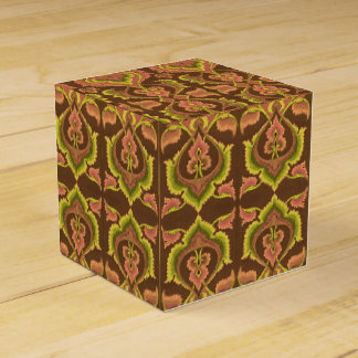 Exotic Vintage Autumn Colours Brown Green Yellow Wedding Favor Boxes
