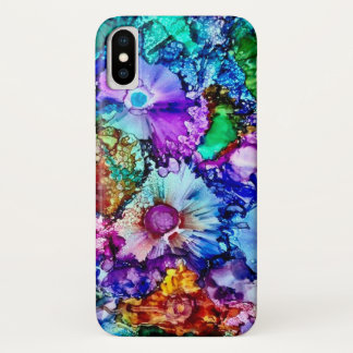 Exotic Watercolor Flowers Art iPhone X Case