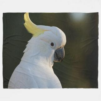 Exotic White Cockatoo Fleece Blanket