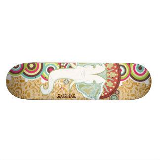 Exotic White Elephant Sk8 Deck Custom Skateboard