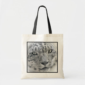 Exotic White Snow Leopard Budget Tote Bag