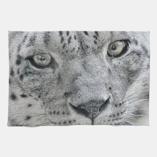 Exotic White Snow Leopard Kitchen Towel