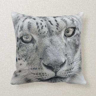 Exotic White Snow Leopard Pillows