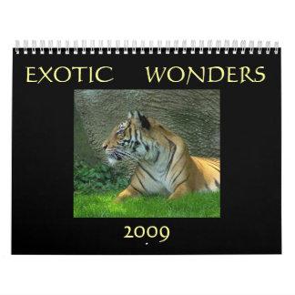 Exotic Wonders 2009 Calendars