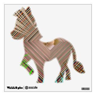 Exotic Zebra Golden Streak Wall Decal