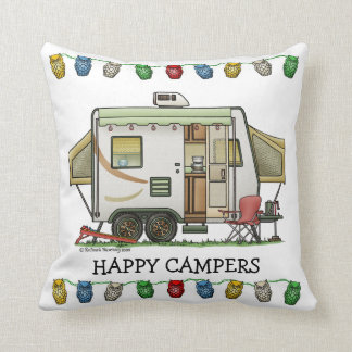 Expandable Hybred Trailer Camper Throw Pillow