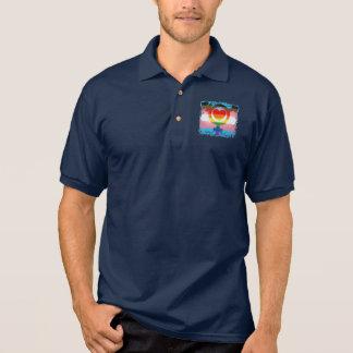 Expanded Gay Pride Flag Rainbow Trans Small Emblem Polo Shirt