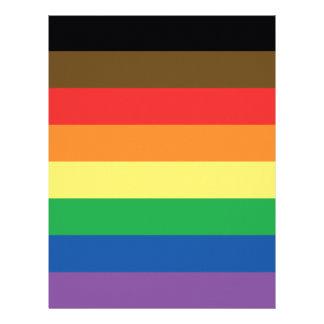 Expanded Gay Pride Rainbow Flag Customizable LGBT Letterhead