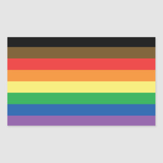 Expanded Gay Pride Rainbow Flag Customizable LGBT Sticker