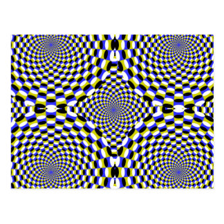 Expanding Optical Illusion Circles Hypnotic Dizzy Postcard