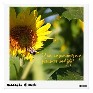 Expanding Pleasure & Joy Sunflower Wall Decal