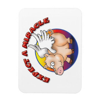 Expect a Miracle - Flying Pig T-Shirt Magnet
