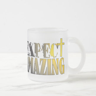 Expect Amazing! Frosted Glass Coffee Mug