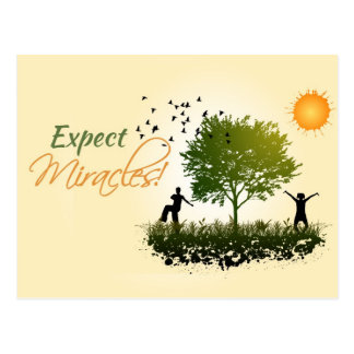 Expect Miracles Postcard