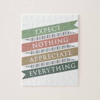 Expect Nothing Appreciate Everything Puzzle
