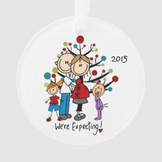 Expectant Couple, Boy, Girl Christmas Ornament