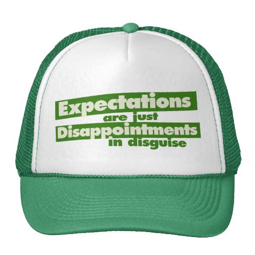 Expectation and just disappointments in disguise mesh hat