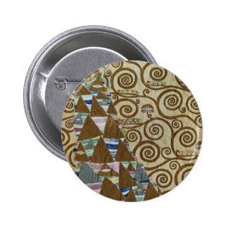 Expectation by Gustav Klimt 2 Inch Round Button