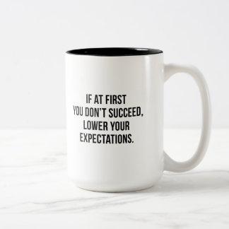 Expectations Two-Tone Coffee Mug