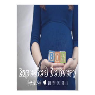 Expected Delivery Pregnancy Announcement Magnet Magnetic Invitations
