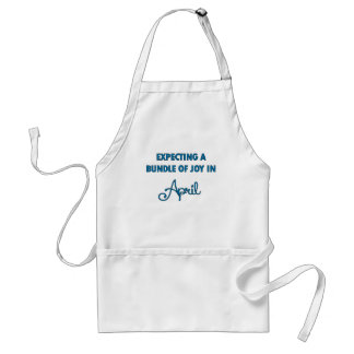 Expecting a bundle of joy in April  blue.png Standard Apron