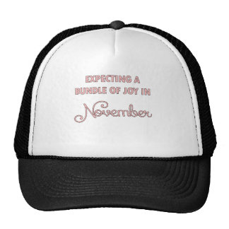 Expecting a bundle of joy in November pink.png Trucker Hat