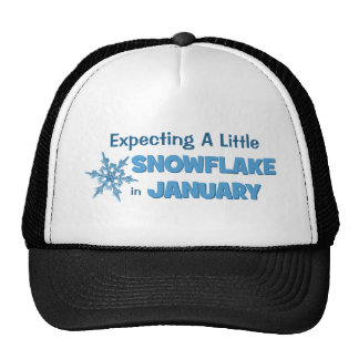 Expecting A Little Snowflake in January Maternity Trucker Hat