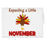 Expecting A Little Turkey in November! Greeting Card