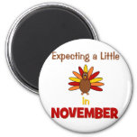 Expecting A Little Turkey in November! Refrigerator Magnets