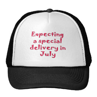 Expecting a special delivery in july mesh hats
