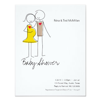 Expecting Couple Baby Shower 4.25x5.5 Invitations