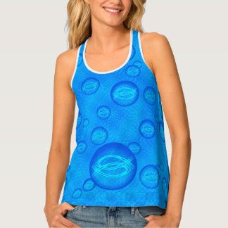 Expecting Mom Jesus Fish Tank Top
