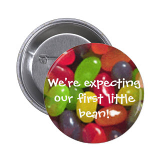 Expecting our first little bean! Button