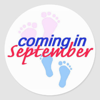 Expecting SEPTEMBER Sticker
