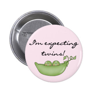 Expecting Twins - Peas in a Pod 2 Inch Round Button