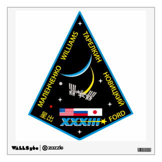 Expedition Crews to the ISS:  Expedition 33 Wall Sticker