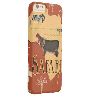 Experience African Safari Vintage Travel Poster Barely There iPhone 6 Plus Case