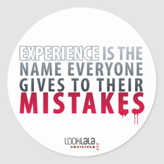 Experience Mistakes Sticker