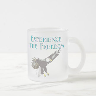 Experience the Freedom Frosted Glass Coffee Mug