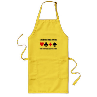 Experienced Bridge Players Wear Their Poker Faces Long Apron