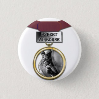 Expert Airborne medal button