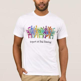 Expert at Dad Dancing - Zany Dancers Motif T-Shirt