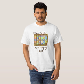 """Expert in Tagalog """"Filipino Alphabet style"""" T-Shirt"""