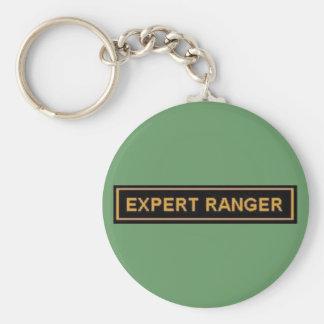 EXPERT RANGER ARMY 'PATCH' BASIC ROUND BUTTON KEYCHAIN