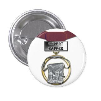 Expert Sapper medal button