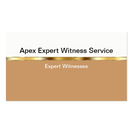 Expert Witness Business Cards