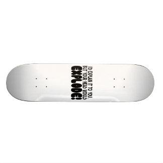 Explanation Would Make Head Explode Skateboard Deck